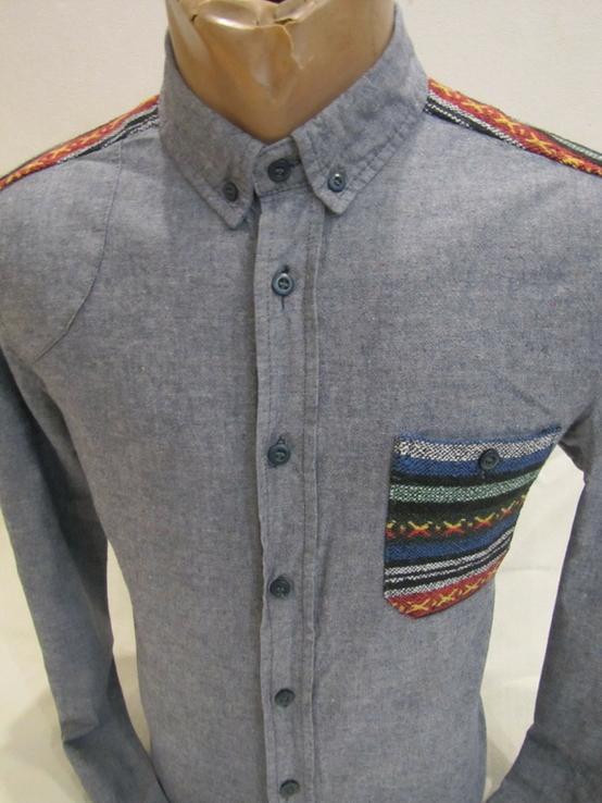 Модная мужская рубашка Bellfield оригинал в отличном состоянии, фото №4