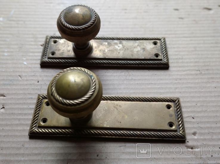 Дверные ручки. Латунь., фото №3
