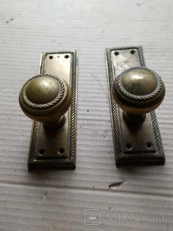 Дверные ручки. Латунь., фото №9