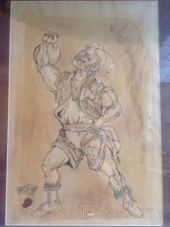 Картина Атлет. Серия Цирк. Авторская работа., фото №3