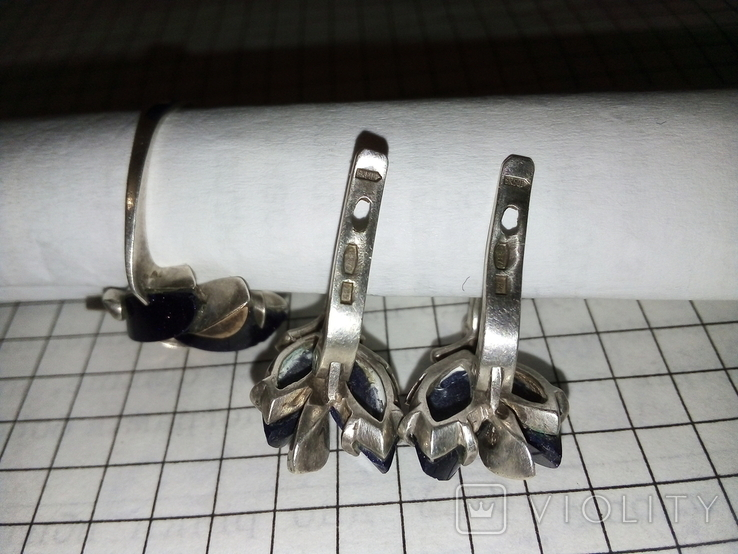 Красивый набор : кольцо+серги ,с позолотой 585 пр, фото №6