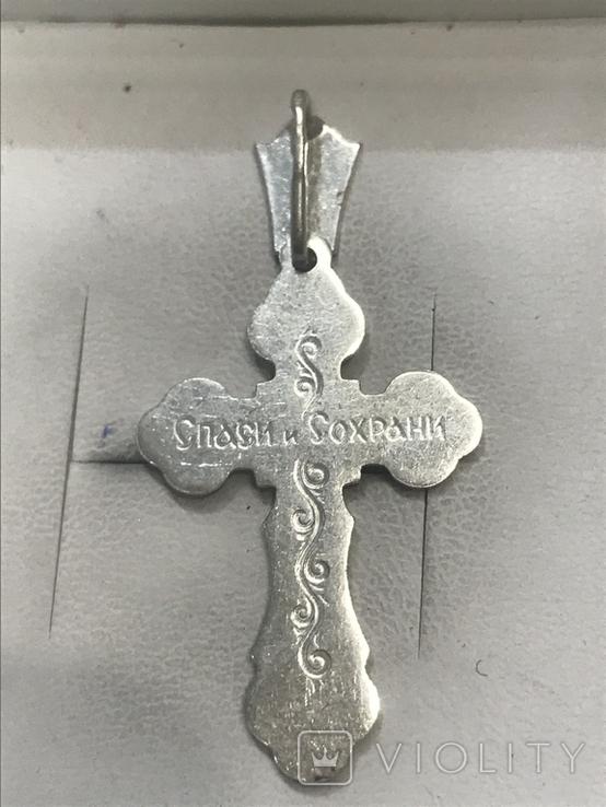 Крестик Серебро, фото №3