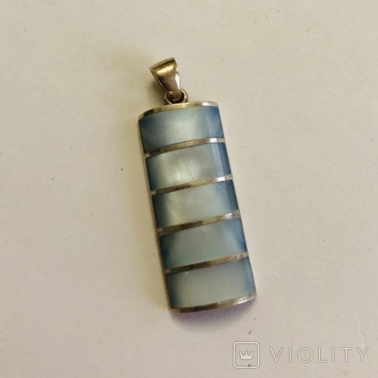 Кулон подвеска серебро 925 пробы 7.4 грамма, фото №2