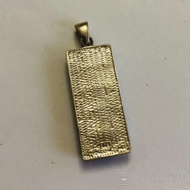 Кулон подвеска серебро 925 пробы 7.4 грамма, фото №5