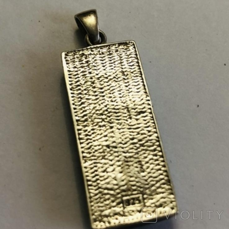 Кулон подвеска серебро 925 пробы 7.4 грамма, фото №6