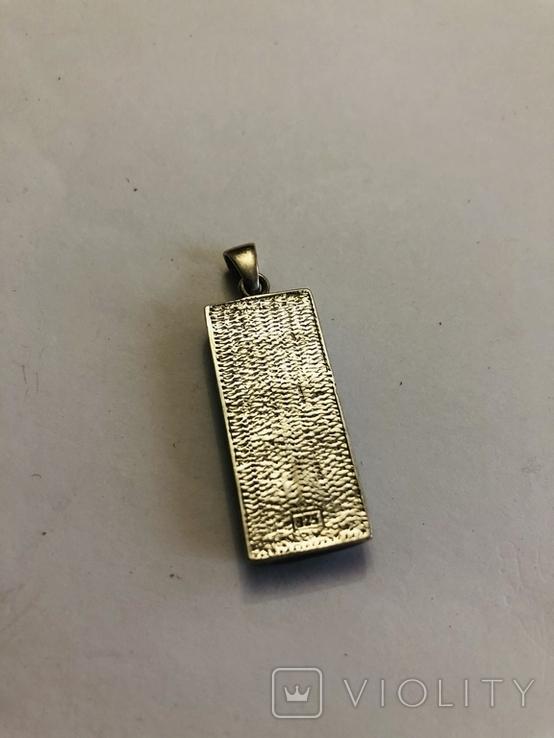 Кулон подвеска серебро 925 пробы 7.4 грамма, фото №7