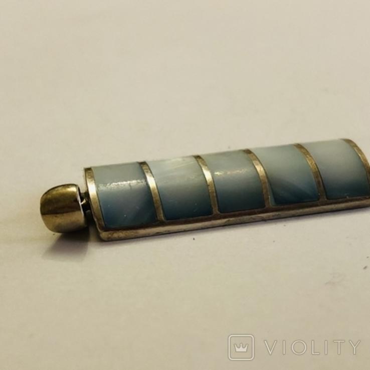 Кулон подвеска серебро 925 пробы 7.4 грамма, фото №9