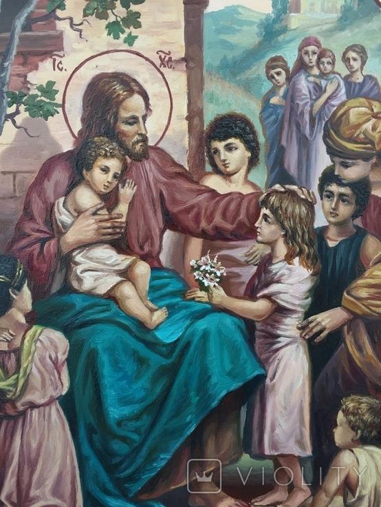 Икона Иисус Благословляющий Деток, фото №3