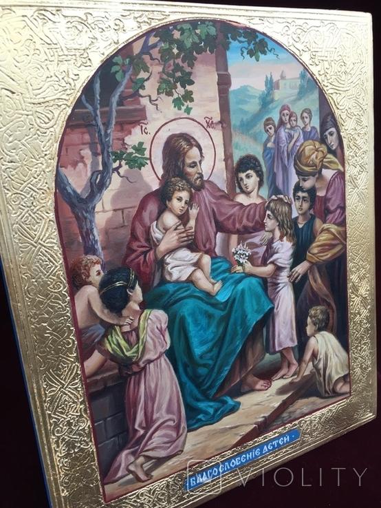 Икона Иисус Благословляющий Деток, фото №4