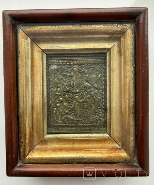 """Икона """"Воскресение Христово"""" в киоте, фото №2"""