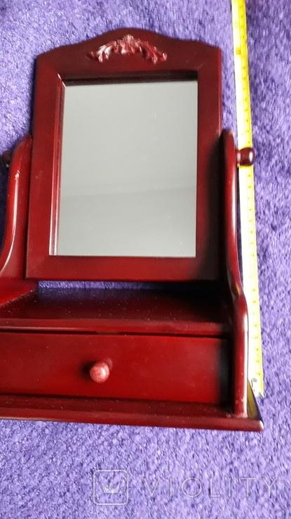 Настільне дзеркало з шухлядою., фото №3