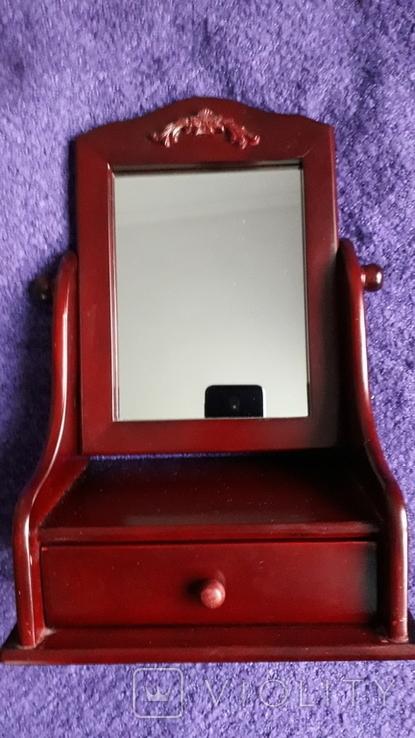 Настільне дзеркало з шухлядою., фото №2