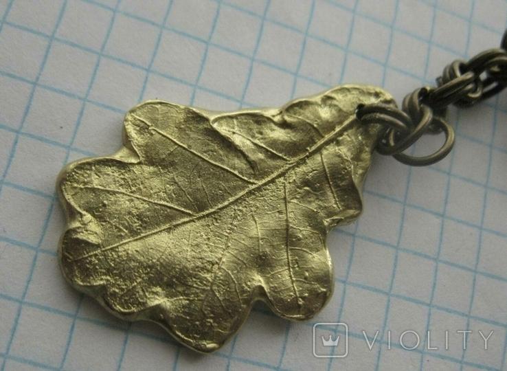 Брелок у вигляді листка-дендропарк Софіївка, фото №4