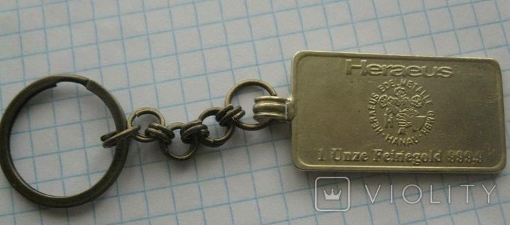 Брелок у вигляді унційного банківського золота  2, фото №2