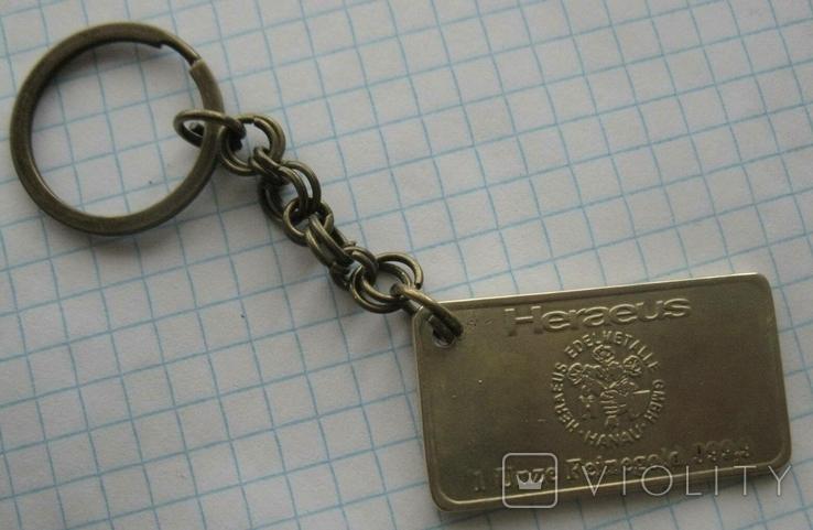Брелок у вигляді унційного банківського золота  3, фото №2