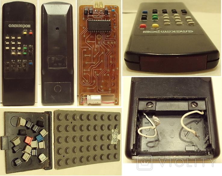Пульт  Электрон 1-шт. и ЗиП(-плата+резина с клавишами), фото №2