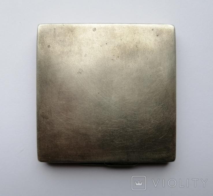 Серебрянная пудреница 875 пробы, фото №3