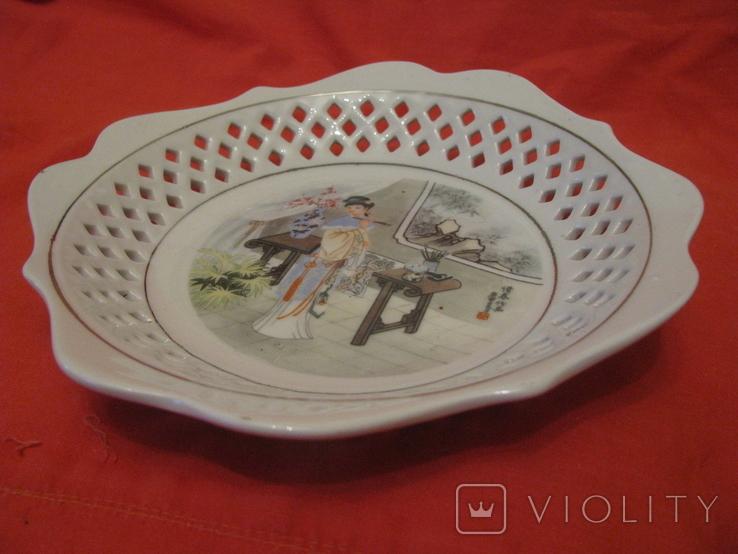 Настенная тарелка - Художница - Япония ., фото №7