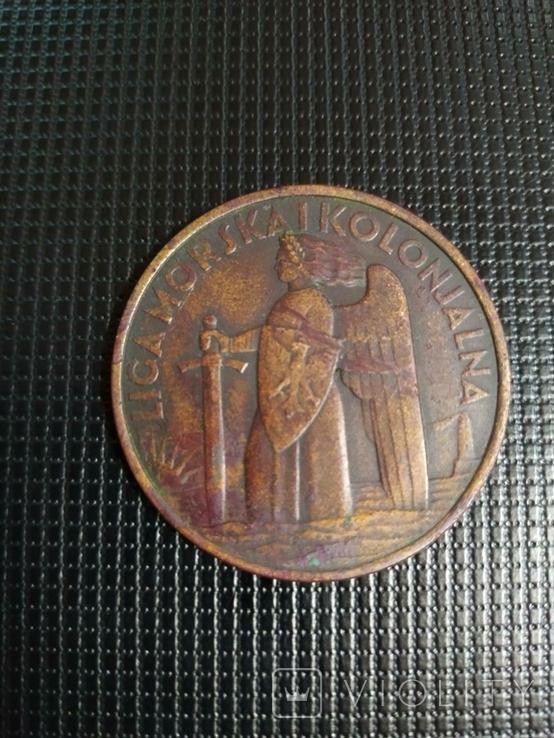 """Памятна відзнака """" Лига Морськая и Колониальная 1935 МС Пилсудский"""", фото №2"""