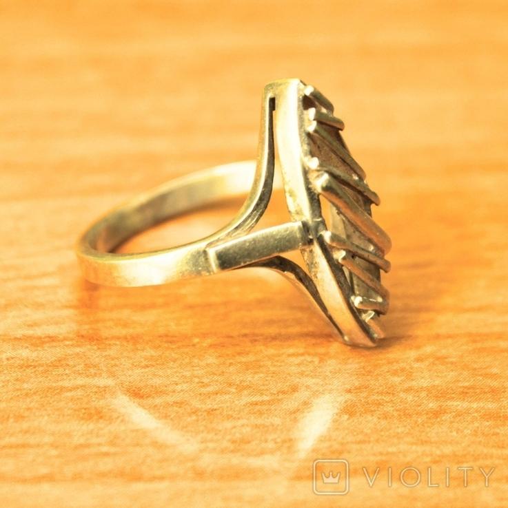 Кольцо СССР серебро 925 арт деко, фото №5