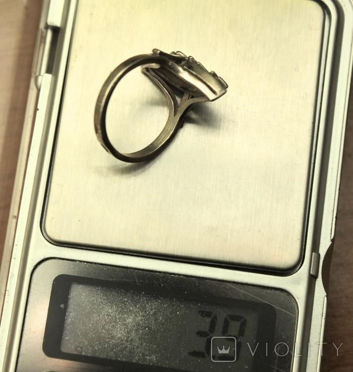 Кольцо СССР серебро 925 арт деко, фото №6