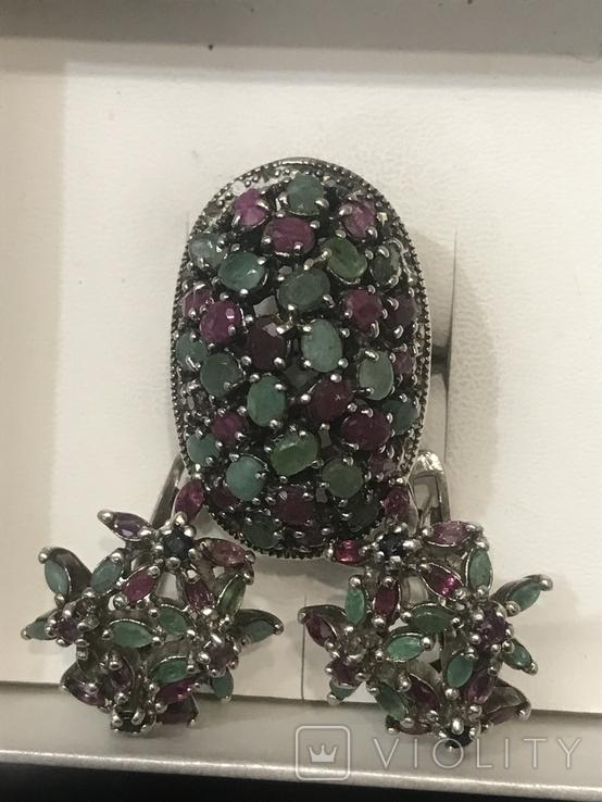 Серебро Натуральные камни, фото №3