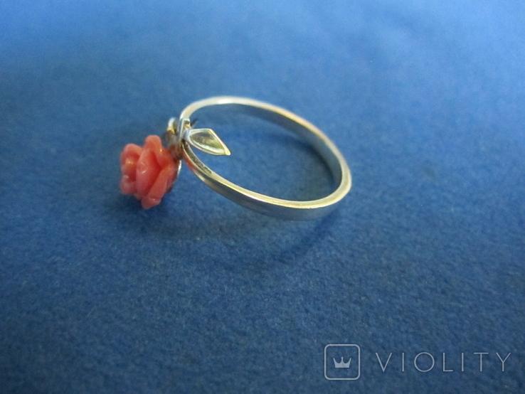 Кольцо и серьги серебро(набор)., фото №4