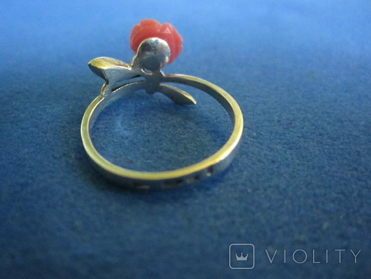 Кольцо и серьги серебро(набор)., фото №5