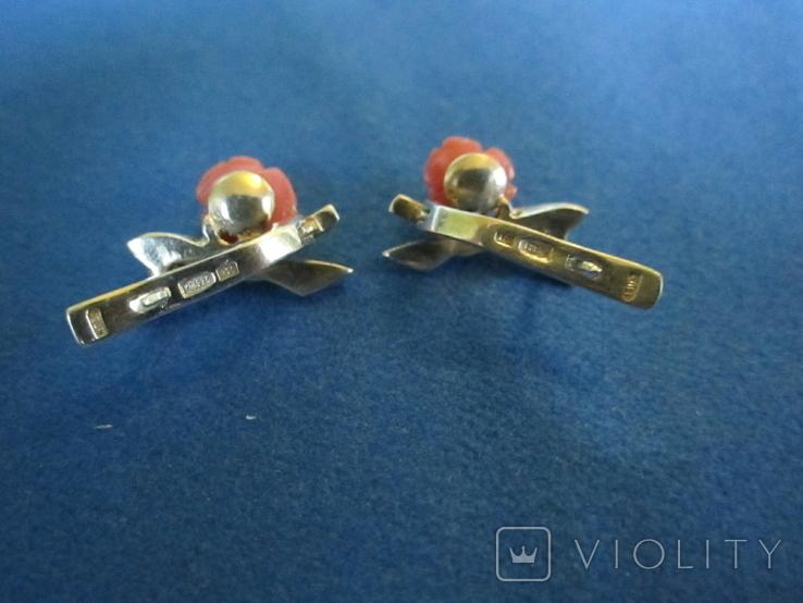 Кольцо и серьги серебро(набор)., фото №7