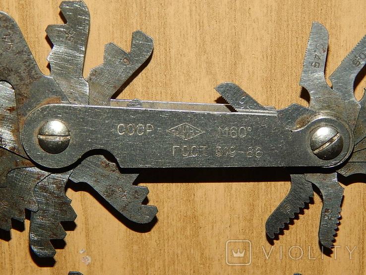 Резьбомер метрический и дюймовой СССР, фото №12