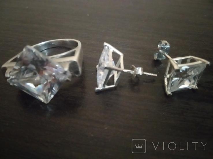 Набор кольцо и серьги, фото №10