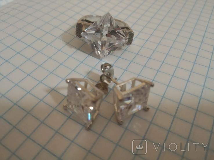 Набор кольцо и серьги, фото №11