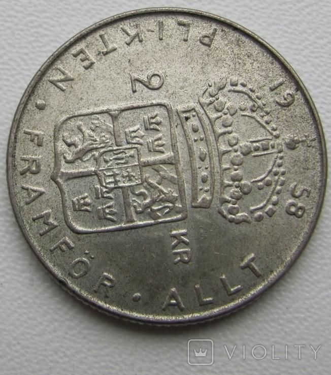 2 кроны 1958 год, Швеция, фото №4