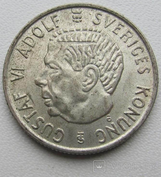 2 кроны 1958 год, Швеция, фото №5
