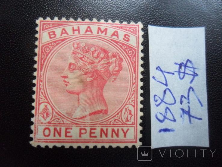 Британские колонии. Багамские острова. 1884 г.  MLH- Каталог- 73 дол. США, фото №2