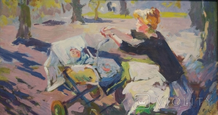"""В.Кнышевский""""Материнство"""",х.м.28х51см,1983г, фото №3"""