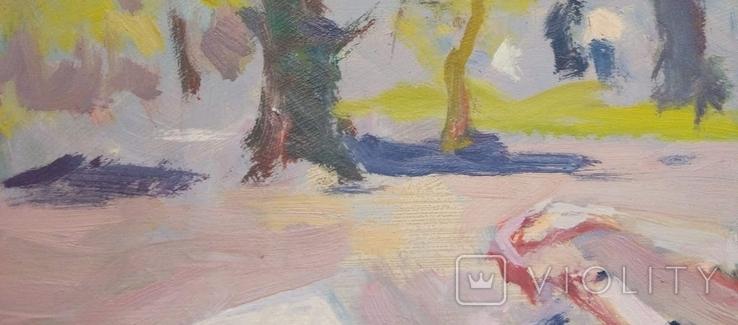 """В.Кнышевский""""Материнство"""",х.м.28х51см,1983г, фото №5"""