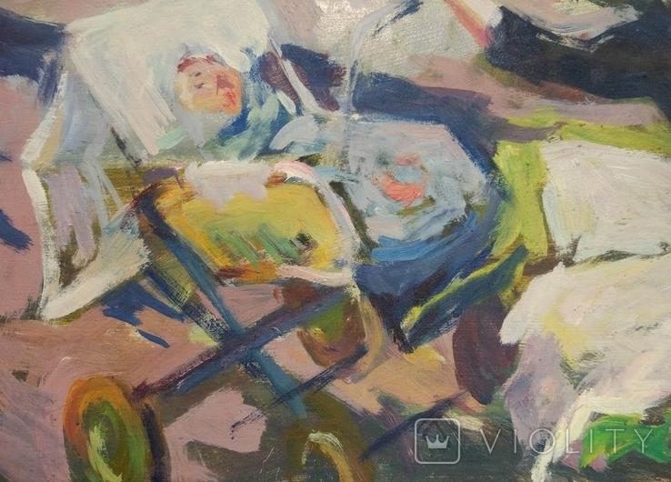 """В.Кнышевский""""Материнство"""",х.м.28х51см,1983г, фото №8"""