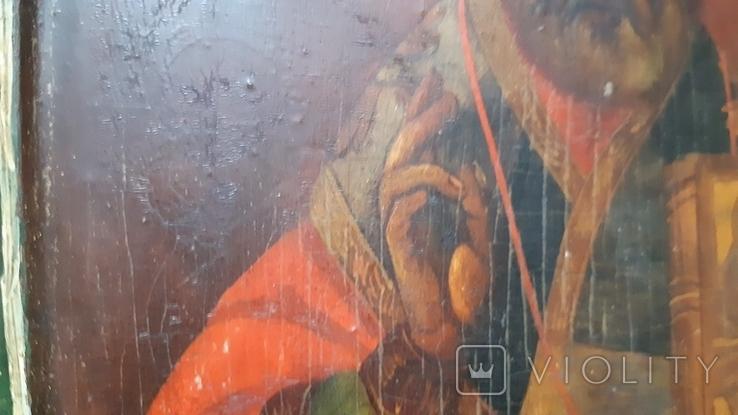 Ковчежный (Николай Чудотвориц) 18 века(26,5×30,5 см.), фото №6