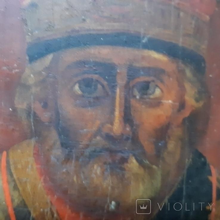 Ковчежный (Николай Чудотвориц) 18 века(26,5×30,5 см.), фото №8