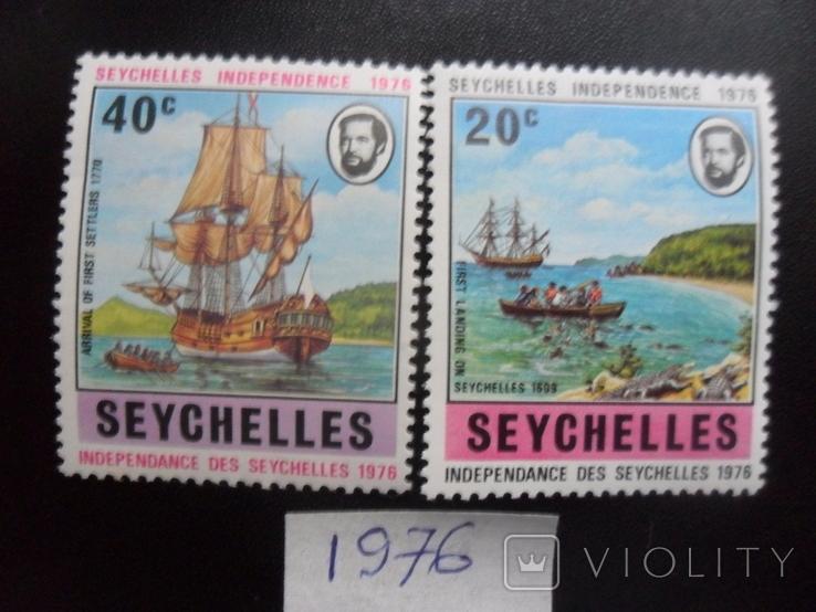 Корабли. Сейшельские острова. 1976 г. Парусники. MLH, фото №2