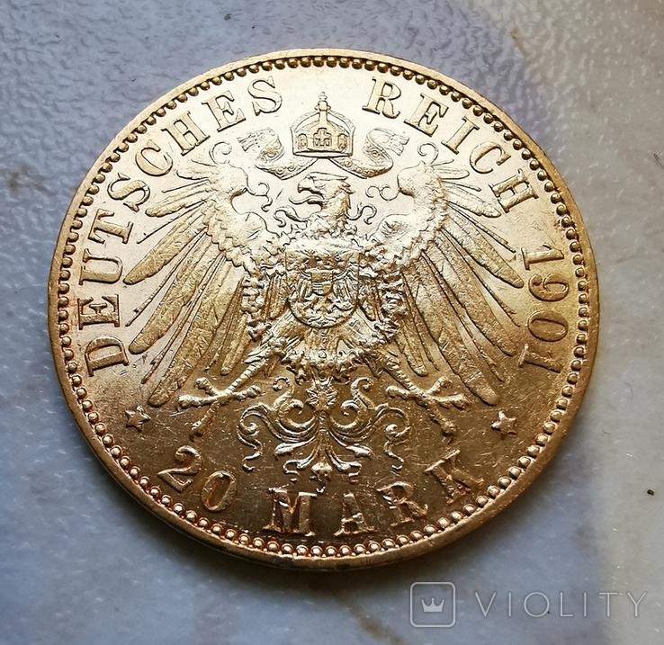 20 марок 1901г А, фото №3