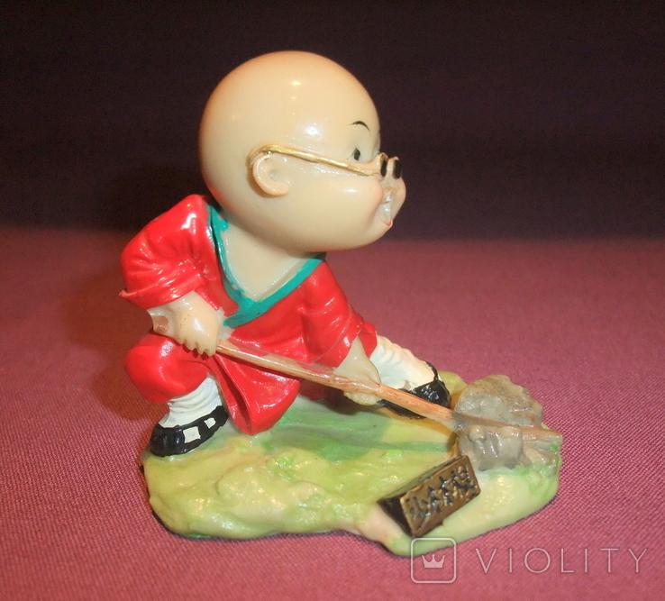 Фигурка - миниатюра *Учёный самурай* сувенир из Японии., фото №3