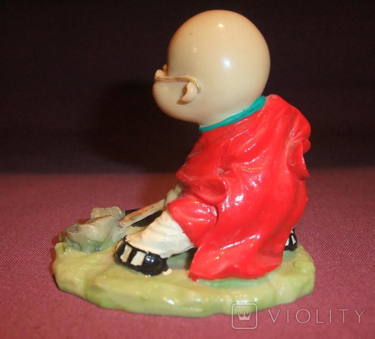 Фигурка - миниатюра *Учёный самурай* сувенир из Японии., фото №5