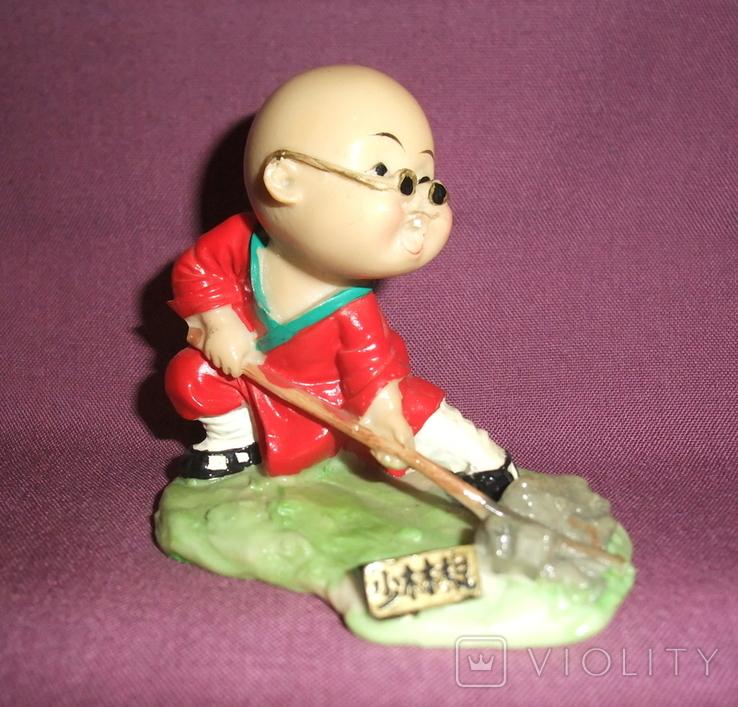 Фигурка - миниатюра *Учёный самурай* сувенир из Японии., фото №7