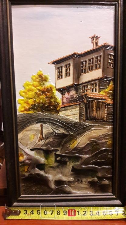 "Картина ""Мост в тени"" Б.М. Тодоров (Болгария) 1996 год, фото №2"