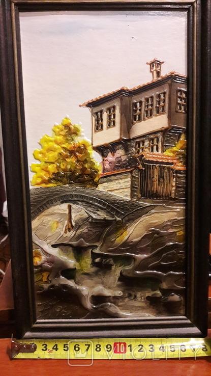 "Картина ""Мост в тени"" Б.М. Тодоров (Болгария) 1996 год, фото №3"