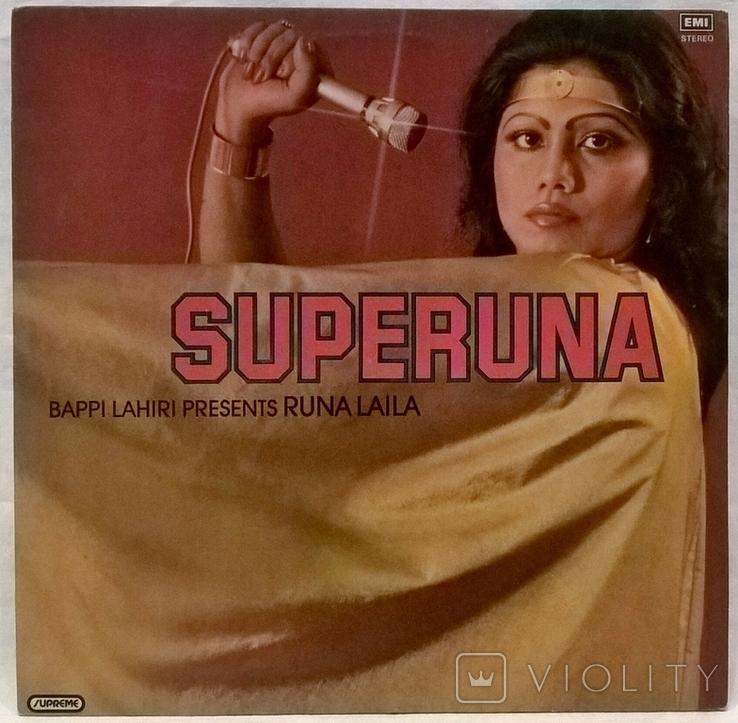 Bappi Lahiri, Runa Laila – Superuna - 1982. (LP). 12. Vinyl. Пластинка. India. Rare, фото №2