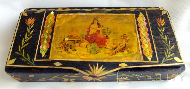 Шкатулка - коробка - хьюмидор для хранения сигар. Дерево авторская ручная работа., фото №2