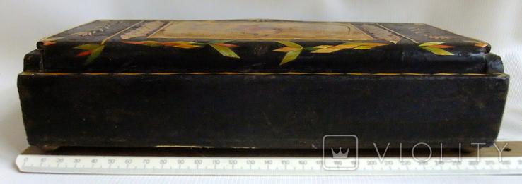 Шкатулка - коробка - хьюмидор для хранения сигар. Дерево авторская ручная работа., фото №6